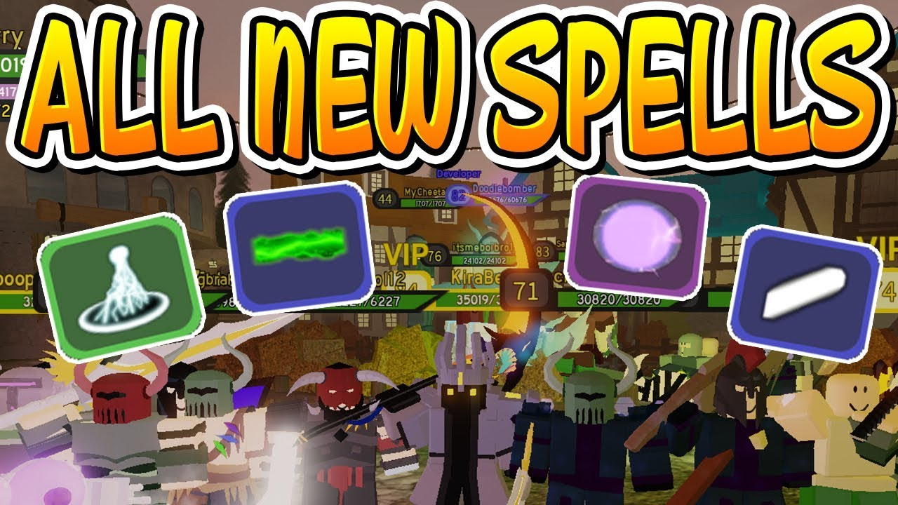 All New King S Castle Spells In Dungeon Quest Roblox Youtube