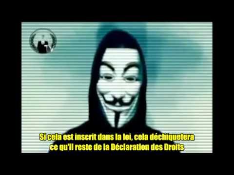Anonymous - Message concernant la loi NDAA