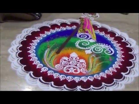 Gudi Padwa Special Rangoli  Nutan Varshabhinandan Shubh Gudi Padwa Rangoli  Ugadi Kolam