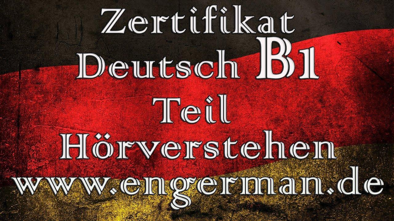 Zertifikat Deutsch B1 Hörverstehen B1 Modelltest 7 Youtube