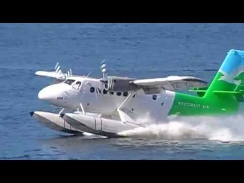 CHARTER PLANE  LANDING ON WATER VANCOUVER