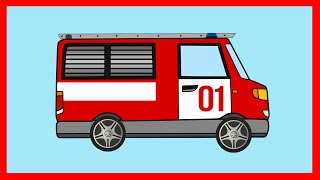 Пожарная Машина. Мультик. Собираем Пазл. Тушим Пожар