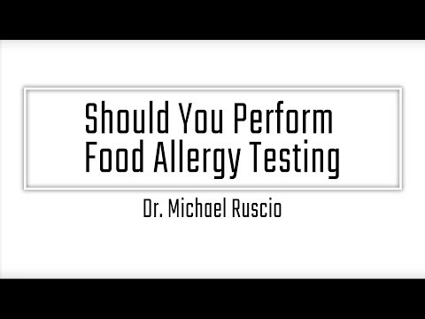 Should You Perform Food Allergy Testing
