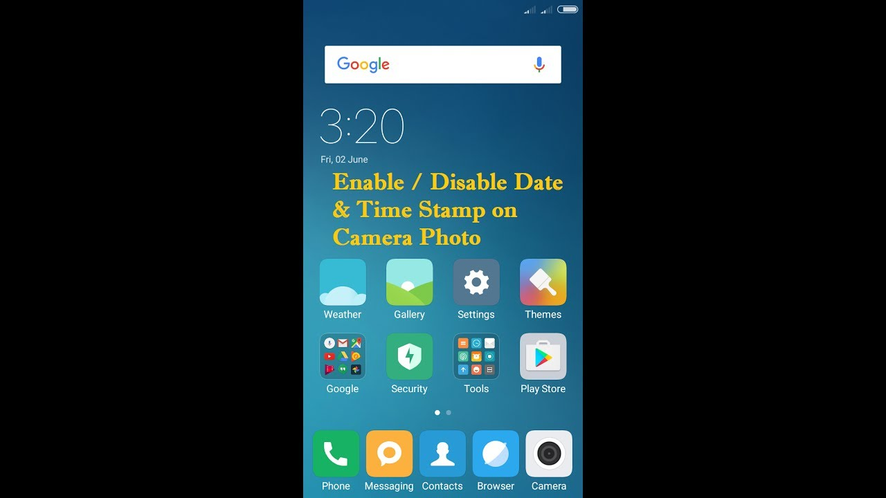 How To Enable Disable Date And Time Stamp For Photo In Redmi 4 Note 4