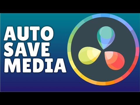 How To Auto Save In davinci resolve 16 (Back Up File)