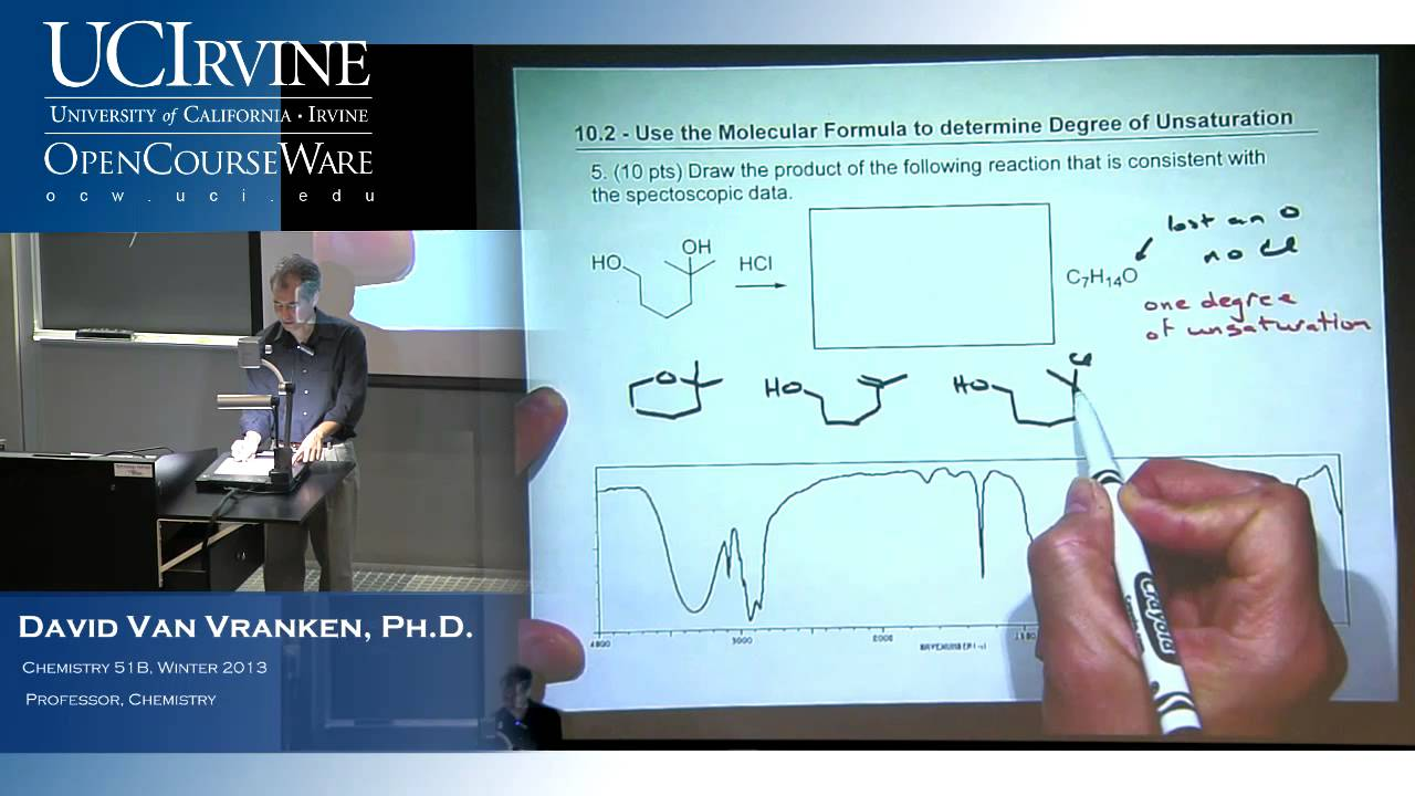 Organic Chemistry 51B. Lecture 16. Infrared Spectroscopy + Ch. 14 ...