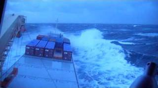 Cargo vessel in heavy conditions