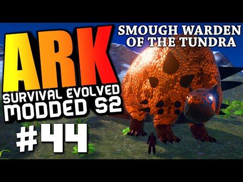 ARK Survival Evolved - SMOUGH WARDEN BOSS FIGHT, BADASS TREX PACHY TAMING Modded #44 (ARK Gameplay)