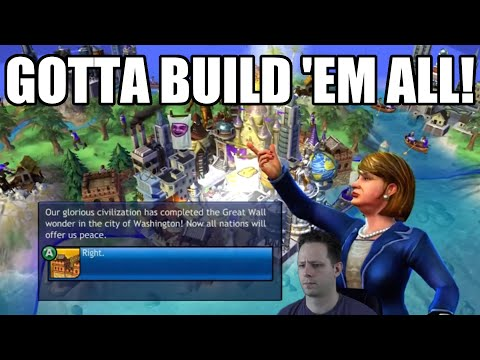 Civilization Revolution - Gotta Build 'Em All! - 1200 AD American Cultural Victory