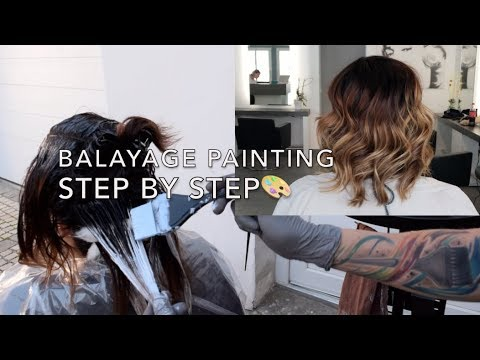 Schritt Für Schritt Balayage Painting Technik