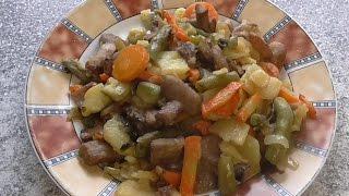 Овощное рагу с грибами  Рецепт рагу овощного Рагу овощное на сковородке