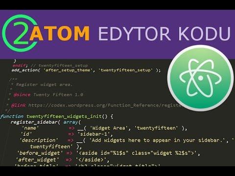 2 - Darmowy Edytor Atom (Wygląd oraz Wtyczki)