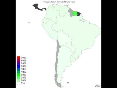 South America - Employers, Female - Time Lapse