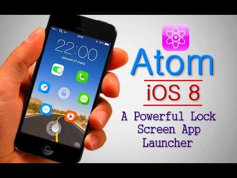 Atom (iOS 8) : A Powerful Lock Screen App Launcher For iPhone 4s,5,5s,6 and  6 Plus
