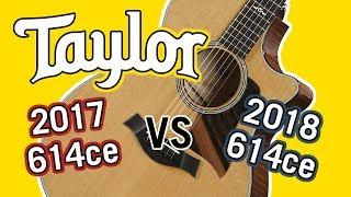 Taylor 2017 614ce vs 2018 614ce V-Class Comparison