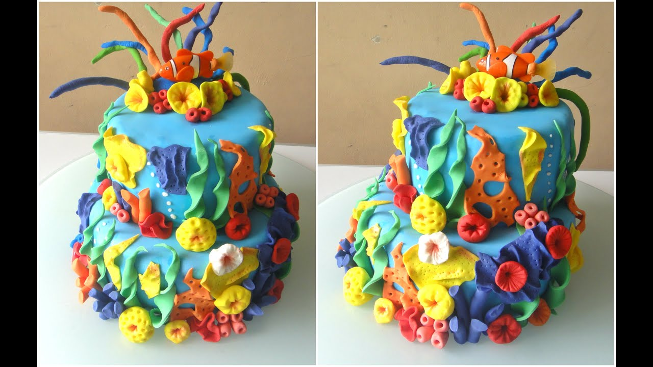 Step By Step Finding Nemo Cake