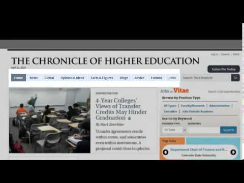 Facebook and The Chronicle of Higher Education