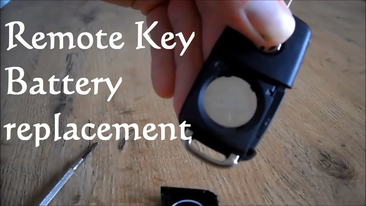 volkswagen remote key fob battery replacement vw youtube