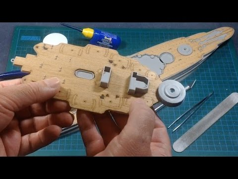 Hobby Boss USS Arizona Part 3 (Wood Veneer Deck)