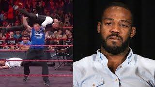 Brock Lesnar Sends Jon Jones Message with F5 & Suplex City Party on WWE RAW