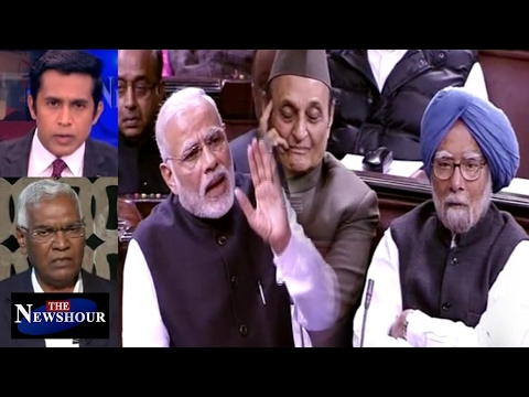 "PM Modi's ""Raincoat"" Comment For Manmohan Singh: The Newshour Debate (8th Feb)"