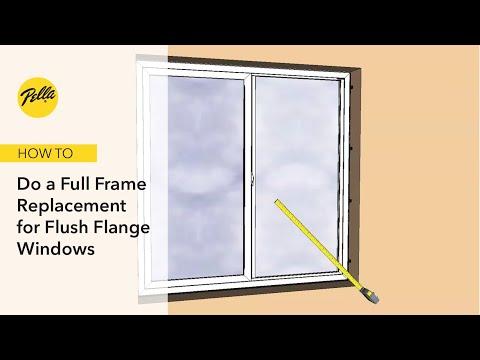 Full Frame Replacement into Aluminum Frames for Flush Flange Windows
