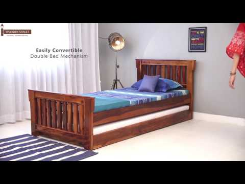 Trundle Beds - Shop Kendra Trundle Bed online in India @ Wooden Street