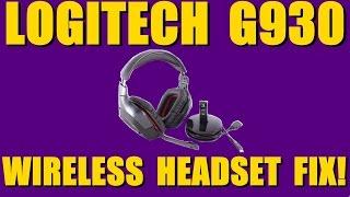Logitech G930 Wireless Headset Fix!