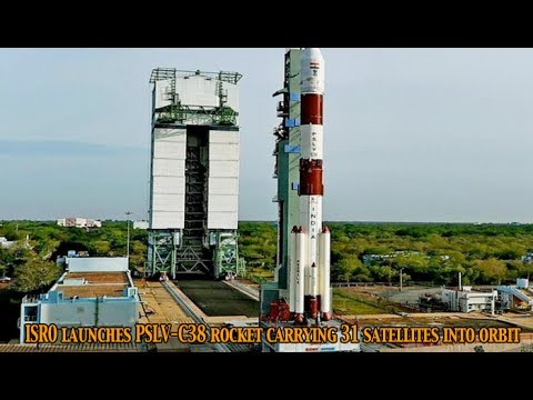 Indian Space Research Organisation launches PSLV C38 rocket carrying 31 satellites into orbit