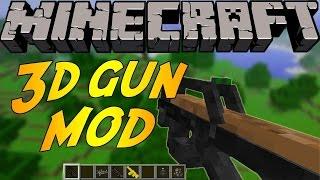 Minecraft Eğlenceli Mod Tanıtımı : 3D Silah Modu - Bu Silahlar Gerçek !!