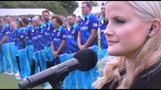 Sophie Morris - God Defend New Zealand - T20 Black Clash