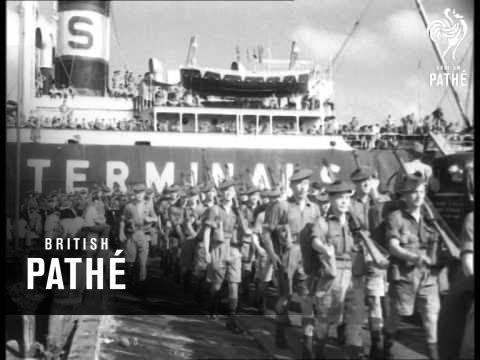 Arrival Of Argyll & Sutherland Highlanders In British Guiana (1953)