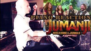 Jumanji 2: Welcome to the Jungle PIANO REACTION Official Trailer  #1 [HD](2017)   Elastic Piano