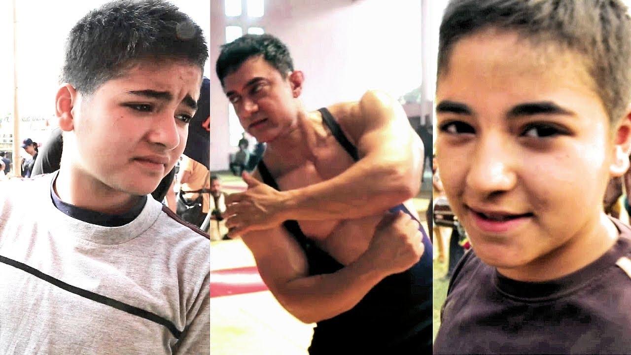 Download Aamir Khan And Zaira Wasim's ACTION SKILLS For Dangal   Behind The Scenes Of DANGAL