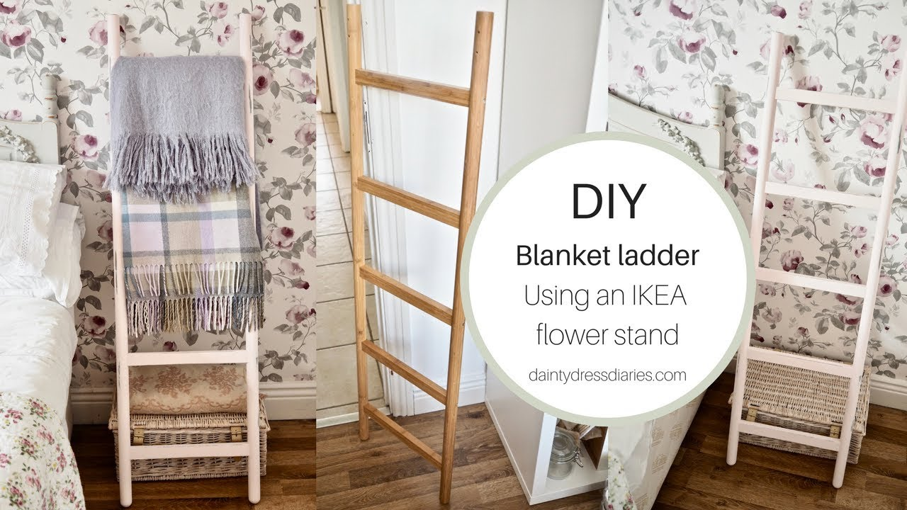 Diy Blanket Ladder Using An Ikea Satsuma Stand Youtube