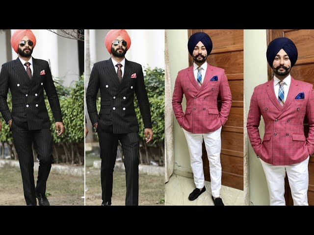 Lining blazer with unique style very trendy in punjabi boys || Kaur Trends
