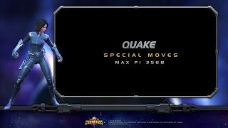 Quake Special Moves Video | Marvel Contest of...