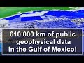 Publicly available geophysical data in the Gulf of Mexico