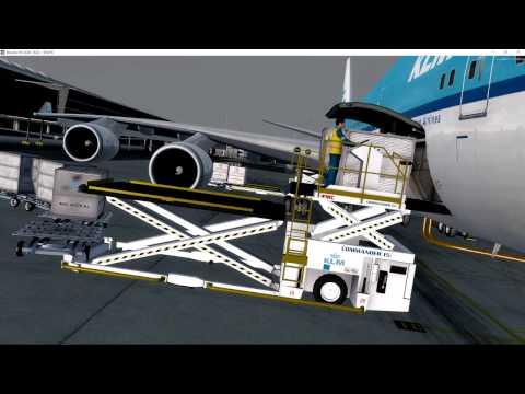 PMDG 747 v3 KLM EHAM/TNCM Schiphol to St Maarten Part 1
