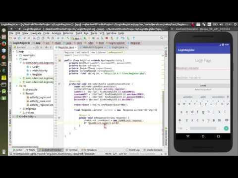 Login dan Register Android dengan Database Php Mysql PART 2