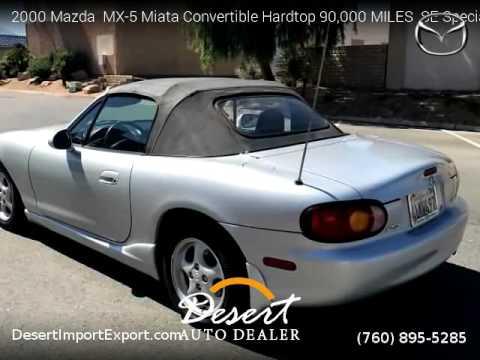 2000 mazda mx 5 miata convertible hardtop 90 000 miles desert auto rh youtube com 2000 mazda mx-5 miata owners manual 2003 Mazda Miata