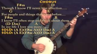 In My Life (The Beatles) Banjo Cover Lesson with Chords/Lyrics