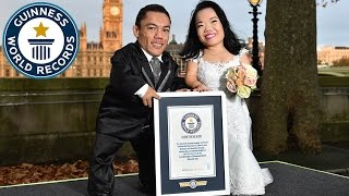 Shortest married couple on GWR DAY 2016 - Guinness World Records