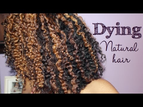 Dying Natural Hair Tutorial My Results Youtube