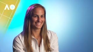 Monica Puig pre-tournament interview | Australian Open 2017