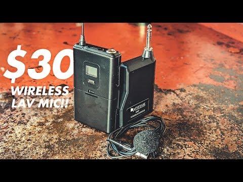 $30 WIRELESS LAV MIC! // Fifine K037 UHF Wireless Lavalier Lapel Microphone Review