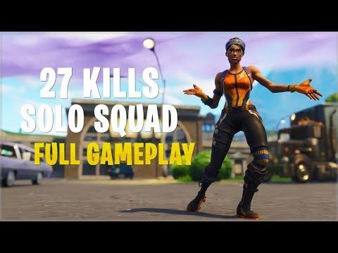 27 Kills Solo Squads | Console - Fortnite Gameplay
