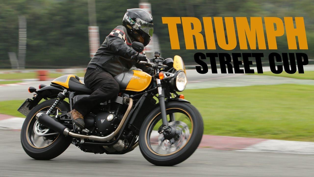 Triumph Street Cup Motocombr Youtube