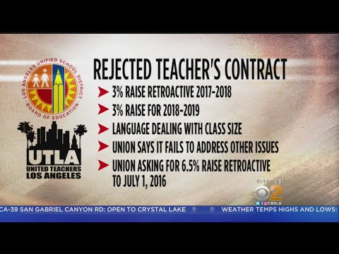 Teachers Reject Latest LAUSD Contract Offer