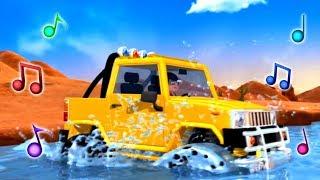 Детские песни про машинки и автобусы - Музыкальные мультики Литл Бэйби Бам